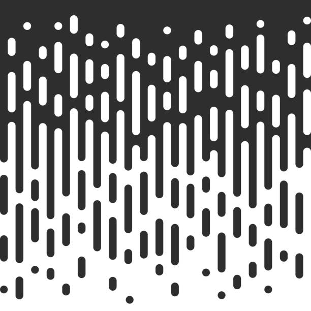 vector seamless black and white irregular rounded lines. - black and white pattern stock illustrations, clip art, cartoons, & icons