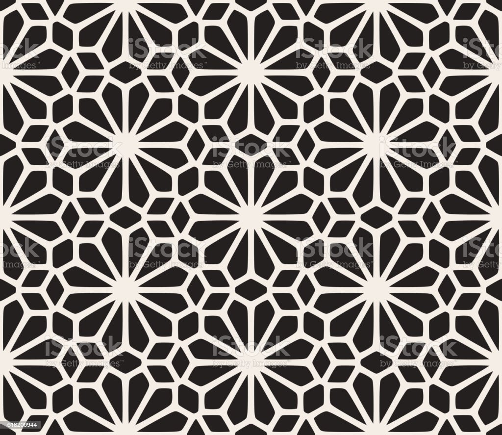 Vector Seamless Black And White Lace Floral Pattern Stock