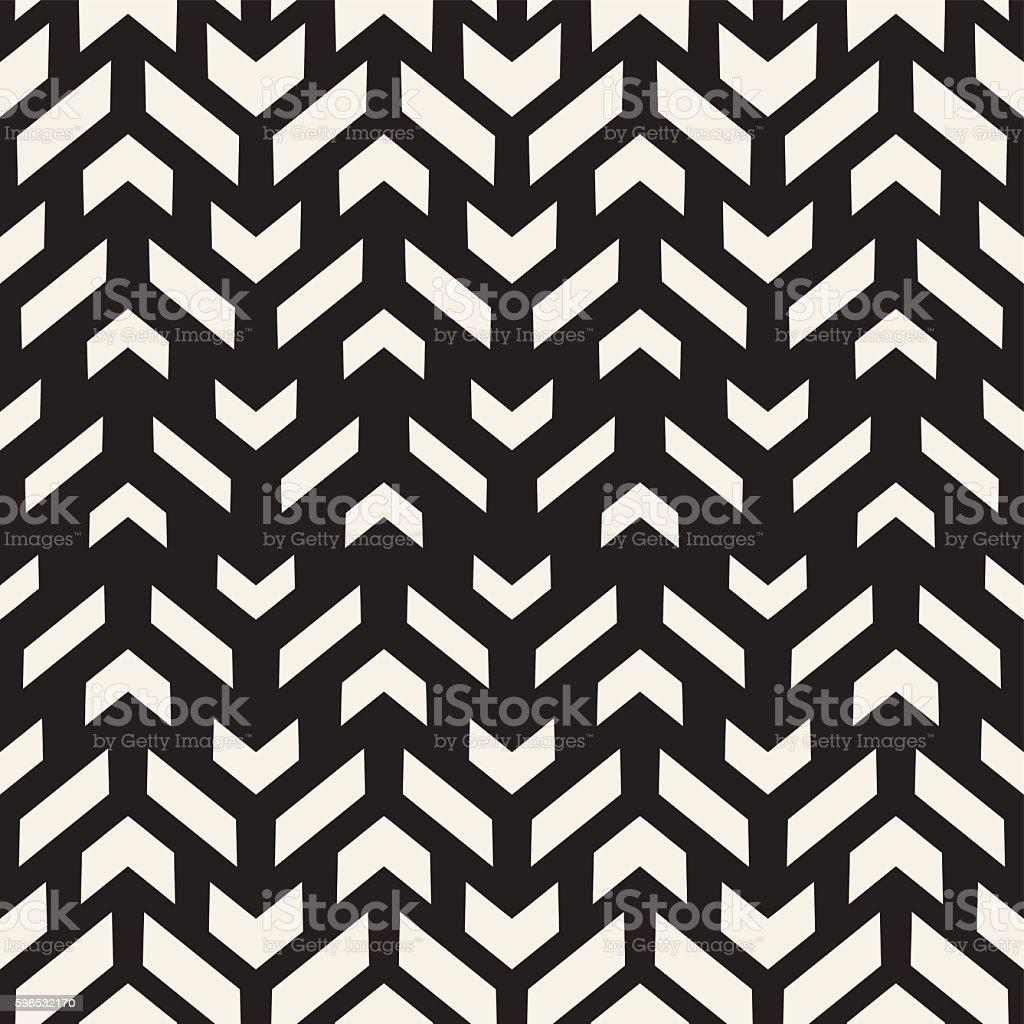 Vector Seamless Black And White Rectangle Shape Geometric Pattern vector seamless black and white rectangle shape geometric pattern – cliparts vectoriels et plus d'images de abstrait libre de droits