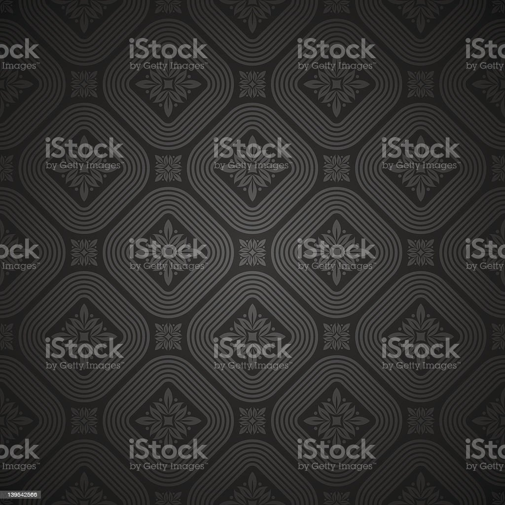 Vector seamless black pattern royalty-free stock vector art