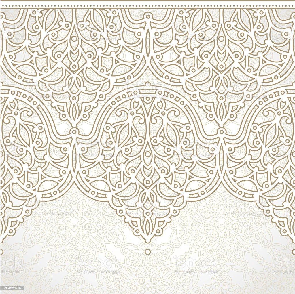 Vector seamless border in east style. vector art illustration