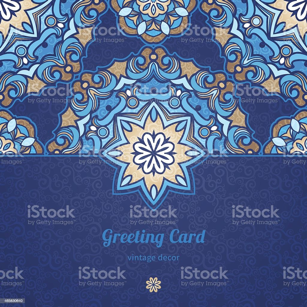 Vector seamless border in Eastern style. vector art illustration