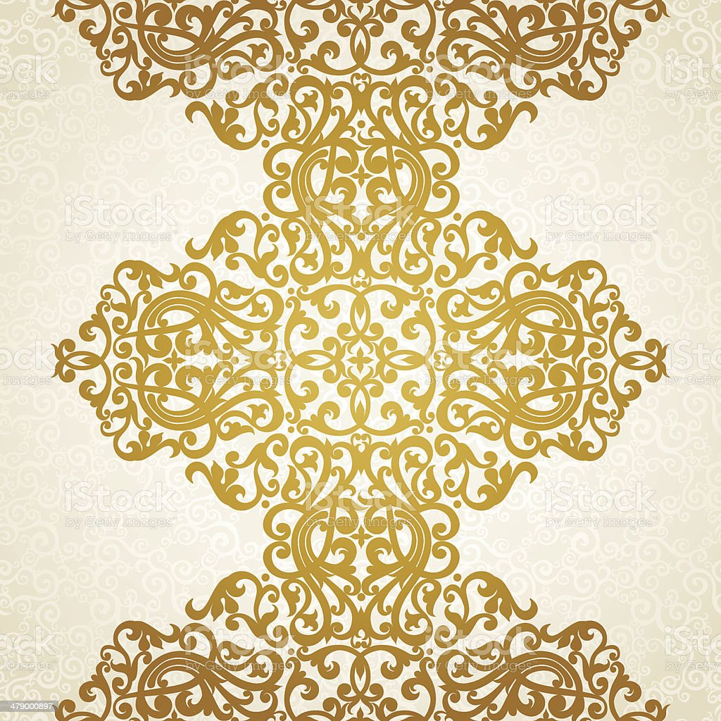 Vector seamless border in Victorian style vector art illustration