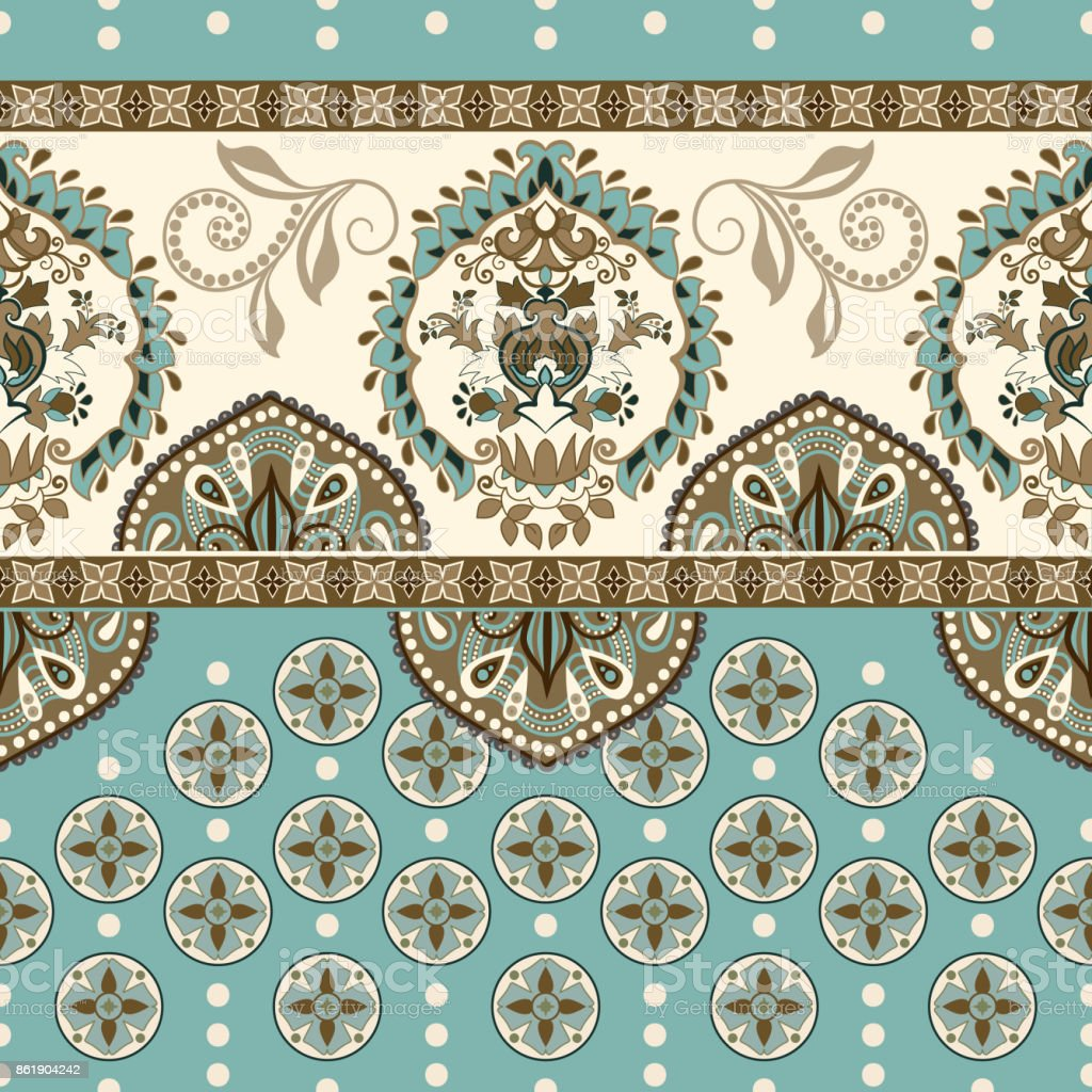Vector Seamless Border With Decorative Ethnic Elements Moroccan
