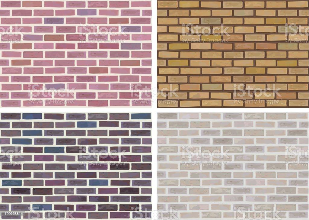 Vector seamless brick wall. vector art illustration
