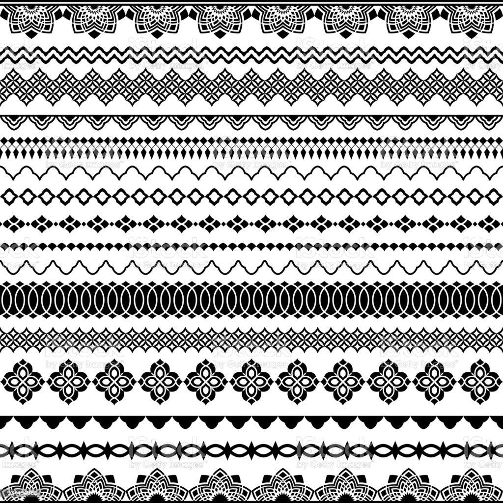 Balais sans soudure vecteur pour cadres, diviseurs, frontières - Illustration vectorielle