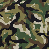 vector seamless pattern camouflage forest
