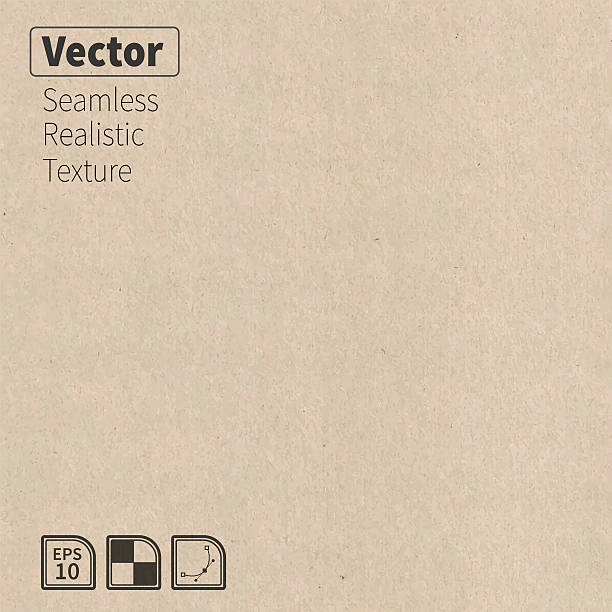 vector seamless cardboard texture. - organic stock illustrations, clip art, cartoons, & icons