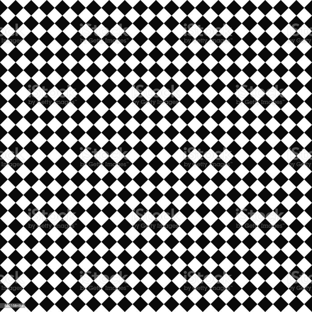Vector seamless checker pattern. Geometric texture. Black-and-white background. Monochrome design. vector art illustration
