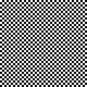 Vector seamless checkered flag pattern. Geometric texture. Black-and-white background. Monochrome design.