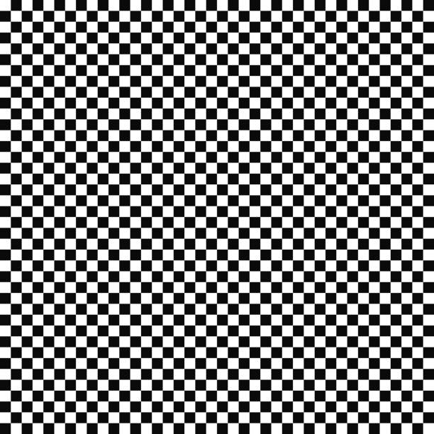 vector seamless checkered flag pattern. geometric texture. black-and-white background. monochrome design. - checked pattern stock illustrations