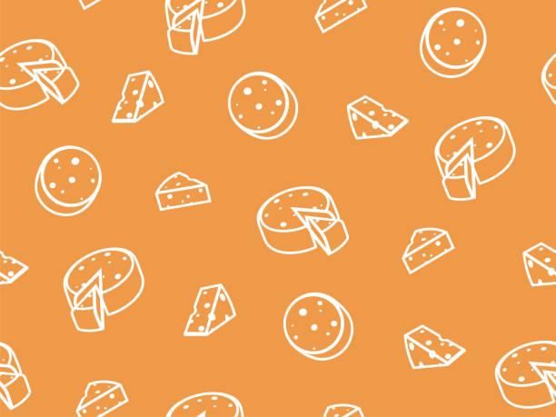 illustrations, cliparts, dessins animés et icônes de motif de fromage sans soudure de vecteur. - raclette