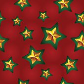 Vector seamless Christmas pattern with clipped stars. Holiday theme