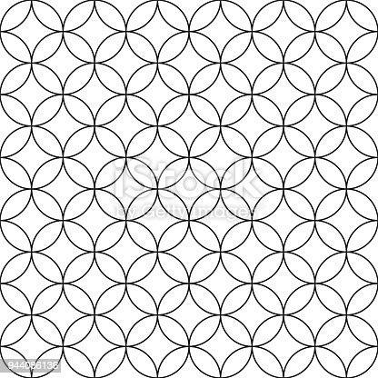 Vector seamless circles pattern - simple ornamental background.