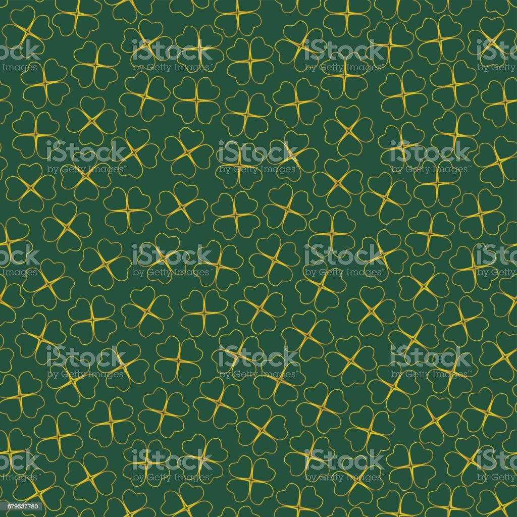 vector  seamless clover background royalty-free vector seamless clover background stock vector art & more images of art