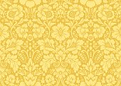 Vector seamless damask gold patterns. Rich ornament, old Damascus style gold pattern for wallpapers, textile, packaging, design of luxury products - Vector Illustration