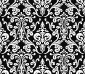 Vector. Seamless elegant damask pattern