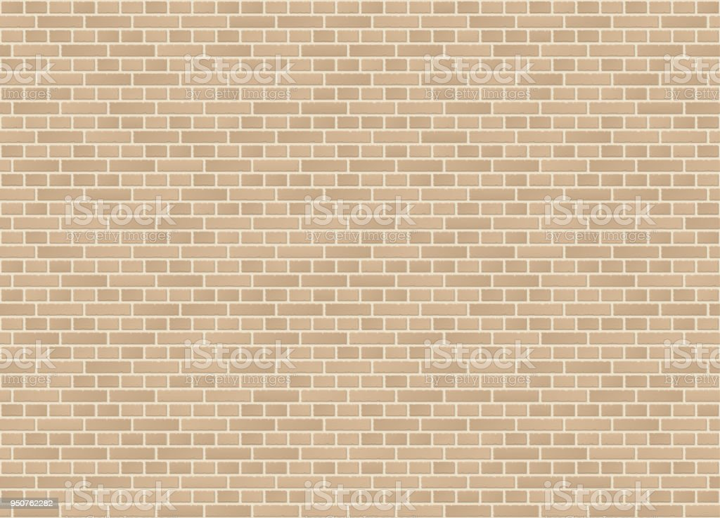 Vector seamless english cross bond sandstone brick wall texture vector art illustration
