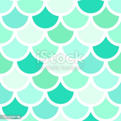 Vector seamless fish scales pattern. Beautiful oriental ornament. Design for fabric, textile, wallpaper, wrapping