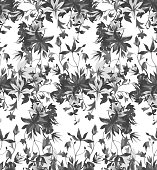 istock Vector seamless floral pattern 1213335266