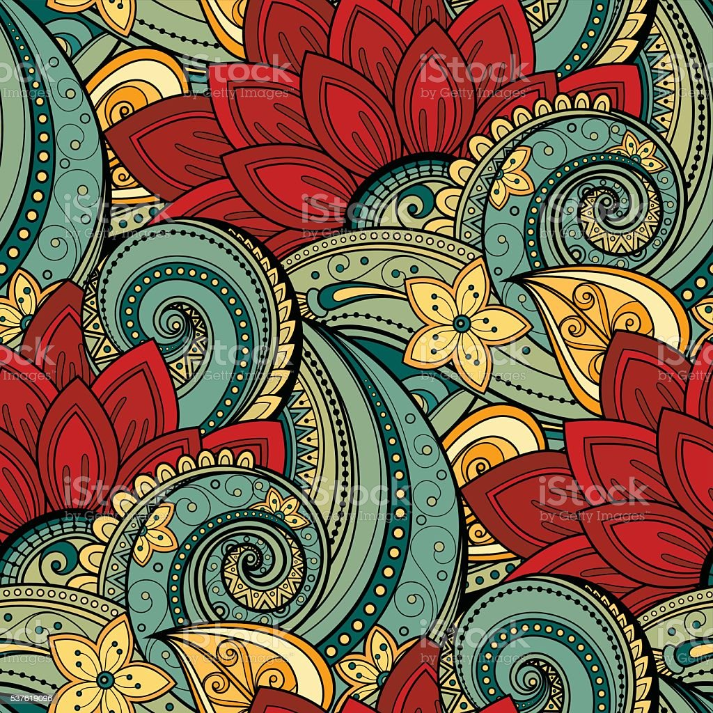 Vector Seamless Floral Pattern vector art illustration