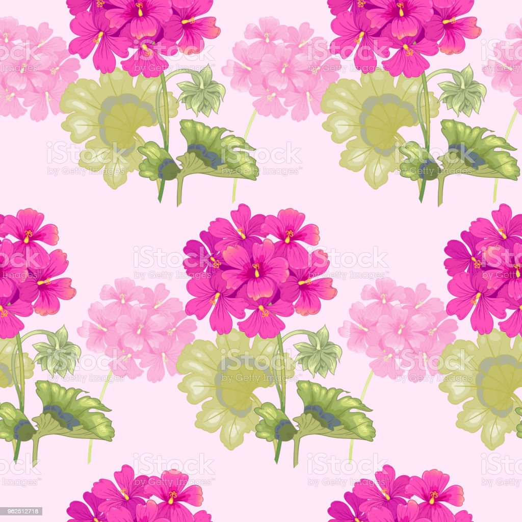 Vector seamless floral pattern. - Royalty-free Backgrounds stock vector