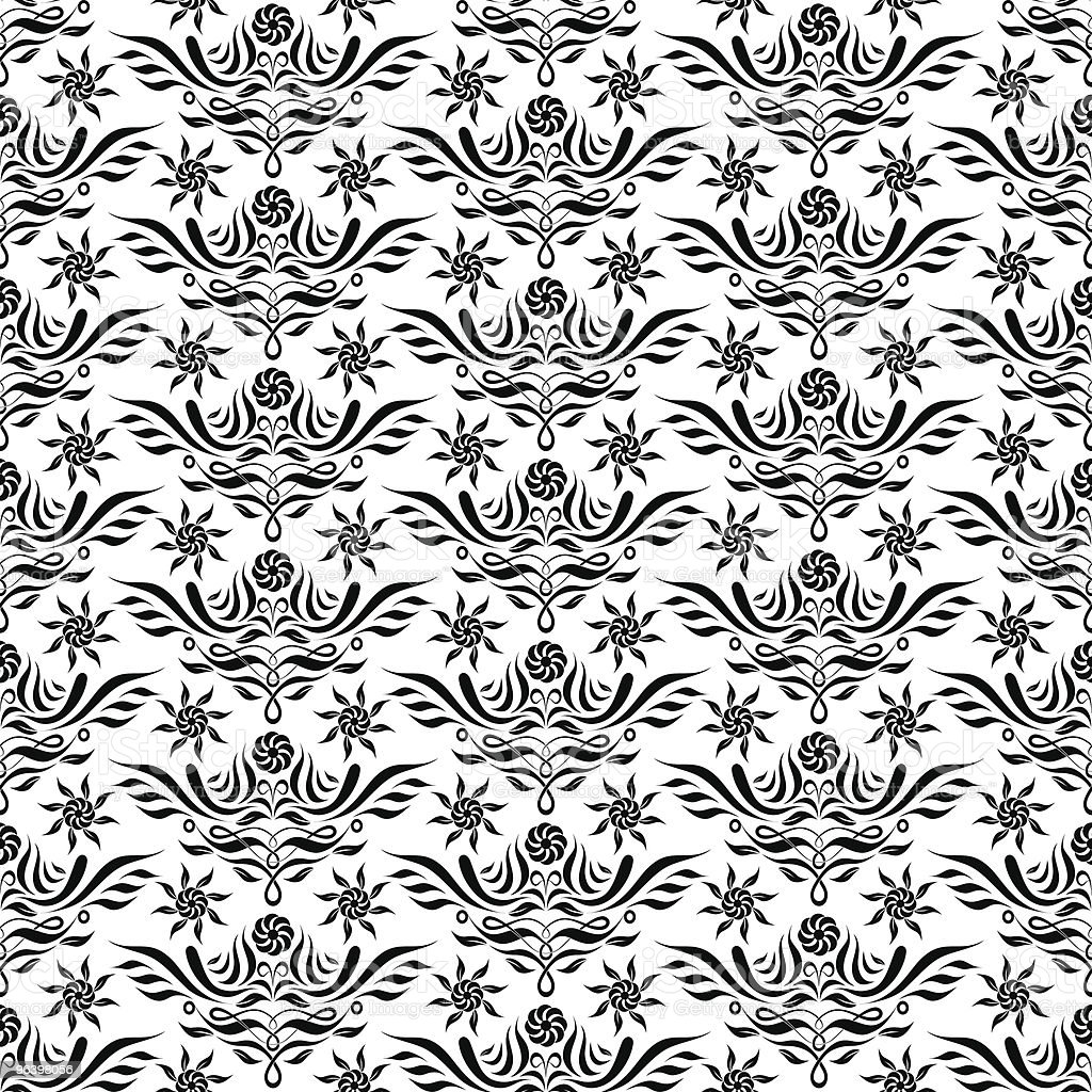 vector seamless floral pattern - Royalty-free Abstract stock vector