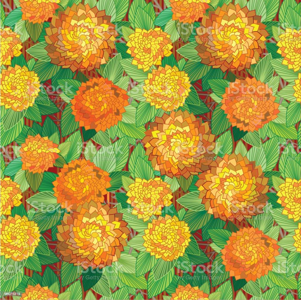 Vettore senza soluzione di continuità motivo floreale. vettore senza soluzione di continuità motivo floreale - immagini vettoriali stock e altre immagini di arancione royalty-free