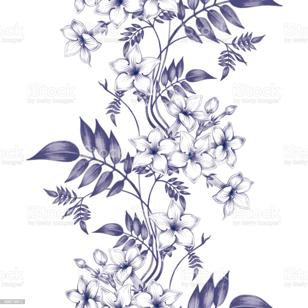 Vector seamless floral pattern with jasmine flowers stock vector art vector seamless floral pattern with jasmine flowers royalty free vector seamless floral pattern with izmirmasajfo
