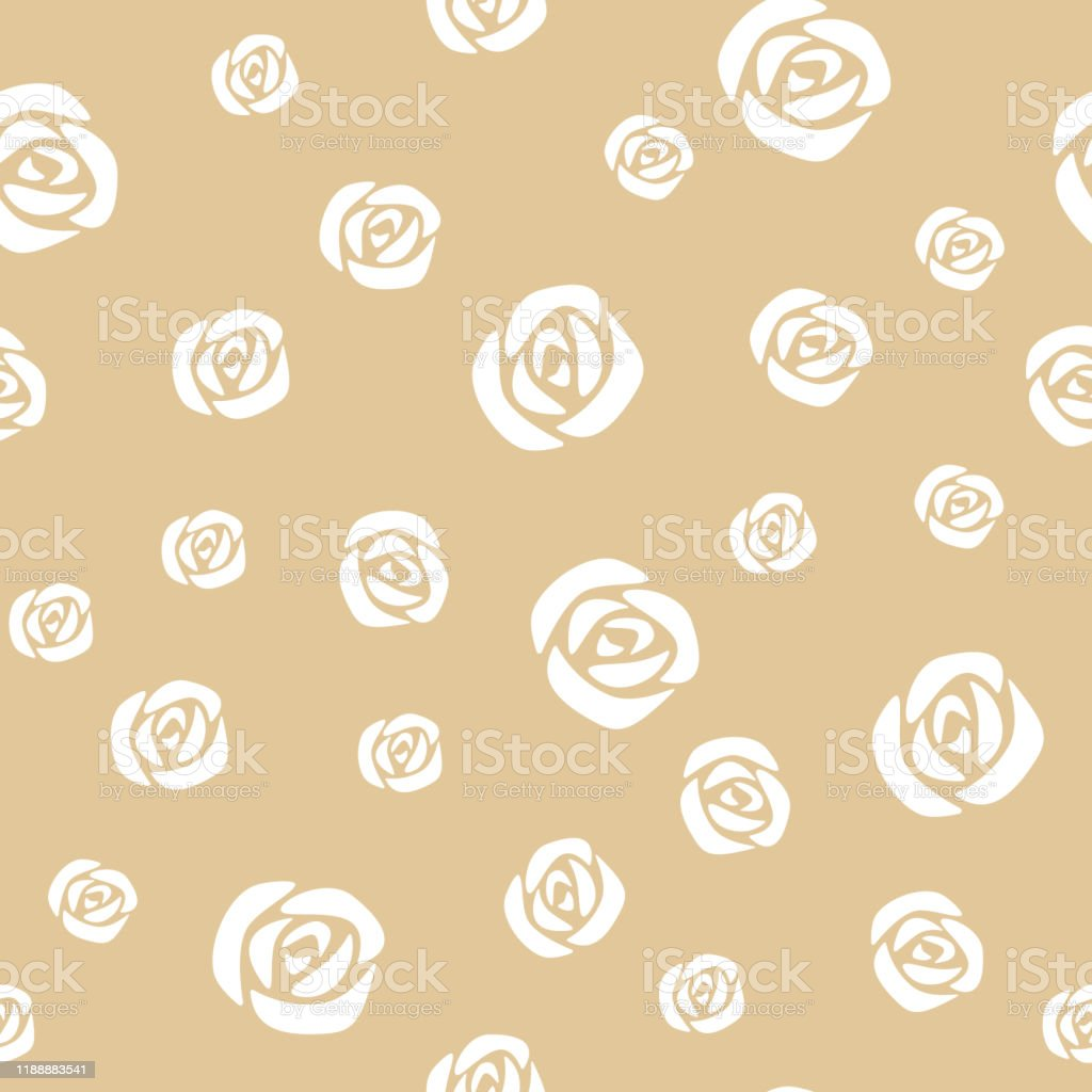 Vector Seamless Floral Pattern With Rose Cute Design For Wrapping