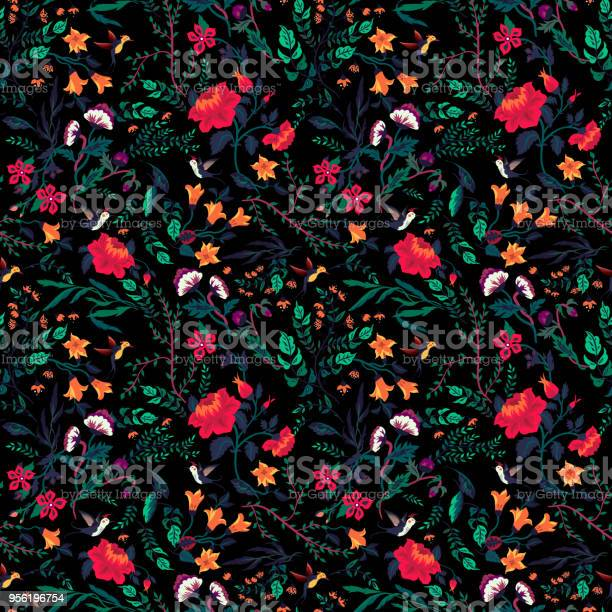 Vector seamless floral pattern with roses and birds vector id956196754?b=1&k=6&m=956196754&s=612x612&h=doz2dnleydpffudkmpumf2fl3yfdik rgymxj9d3rds=