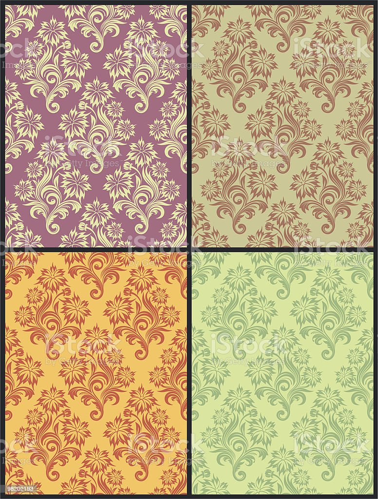 Vector seamless floral wallpaper royalty-free vector seamless floral wallpaper stock vector art & more images of abstract