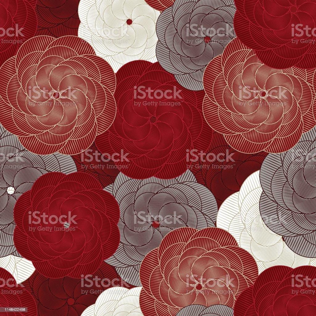 Motif De Fleur Sans Soudure Vecteur Beau Fond Floral Rose