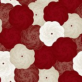 Vector seamless flower pattern. Beautiful floral background. Rose Pattern, book cover, packaging, wedding invitation.