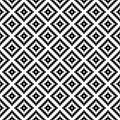Vector seamless geometric pattern. Black-and-white background. Monochrome design. Vector EPS10
