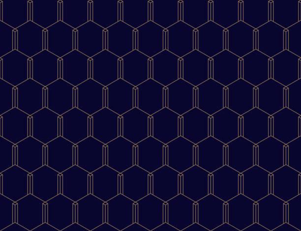 Vektor nahtlose geometrische Muster. Klassische chinesische antike editierbare ornament – Vektorgrafik