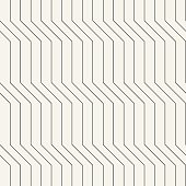 Vector seamless geometric pattern with regular lines. Monochrome endless background