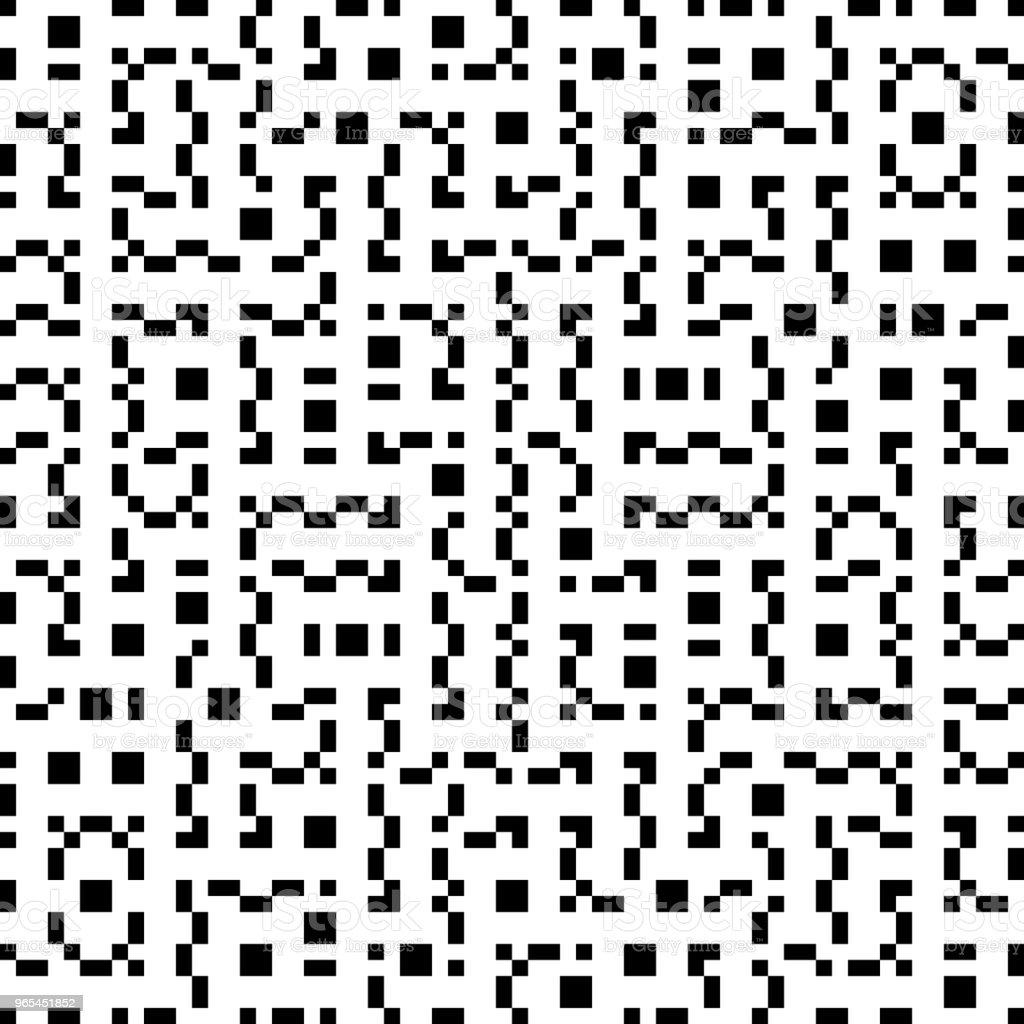 Vector géométrie sans soudure Truchet Pattern - clipart vectoriel de A la mode libre de droits