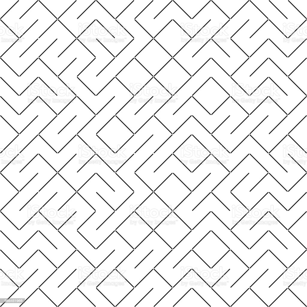 Vector Seamless Geometry Truchet Pattern royalty-free vector seamless geometry truchet pattern stock illustration - download image now