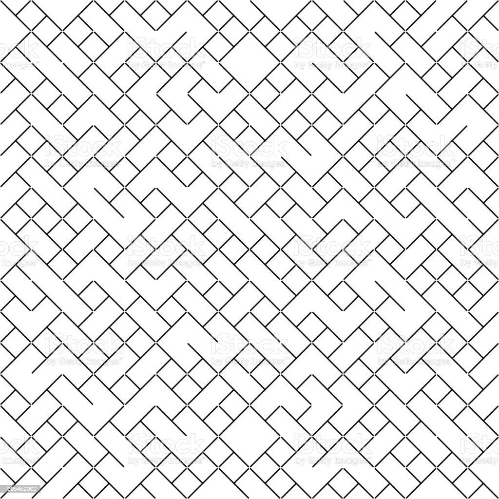 Vector Seamless Geometry Truchet Pattern vector seamless geometry truchet pattern - stockowe grafiki wektorowe i więcej obrazów abstrakcja royalty-free