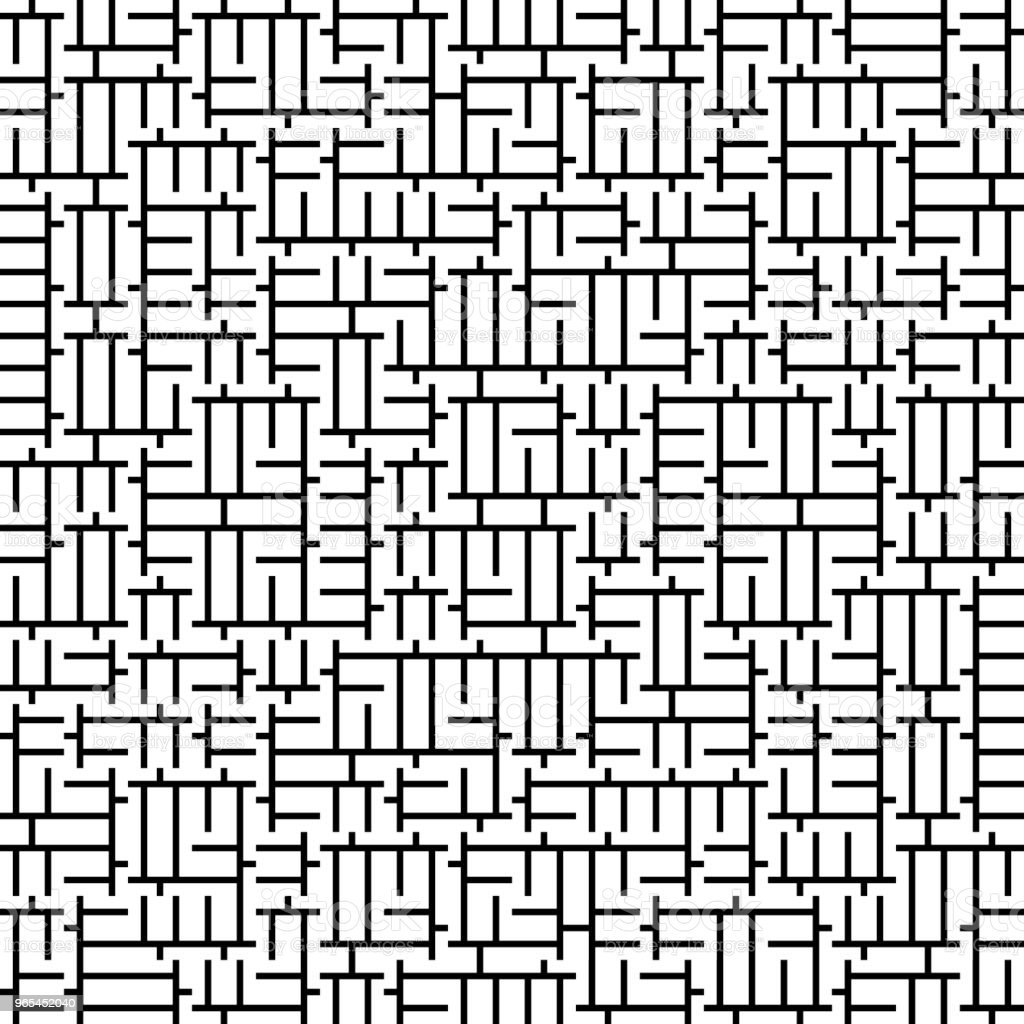 Vector perfeita geometria Truchet padrão - Vetor de Abstrato royalty-free