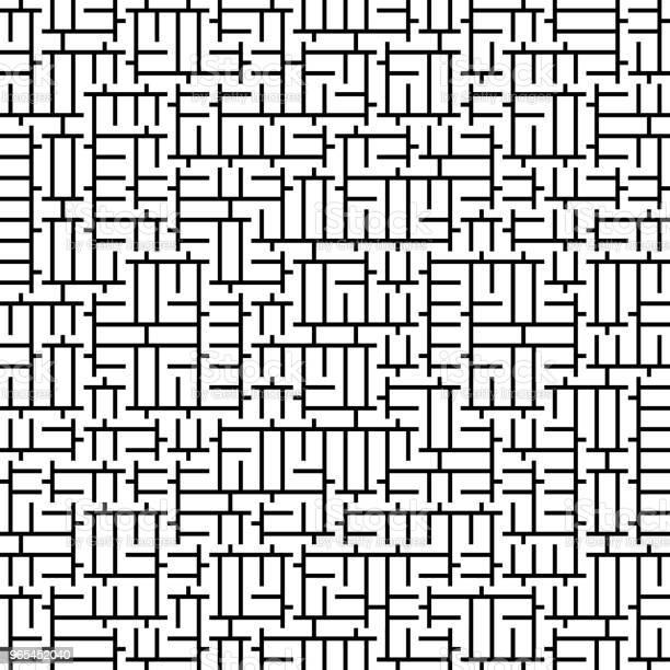 Vetores de Vector Perfeita Geometria Truchet Padrão e mais imagens de Abstrato