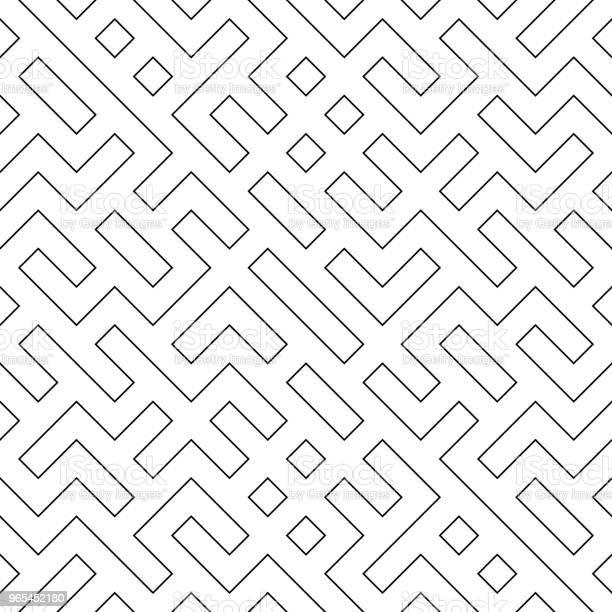 Wektor Bezszwowy Geometria Wzór Truchet - Stockowe grafiki wektorowe i więcej obrazów Abstrakcja