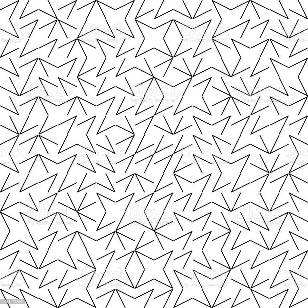 벡터 원활한 형상 Truchet 패턴 - 로열티 프리 0명 벡터 아트