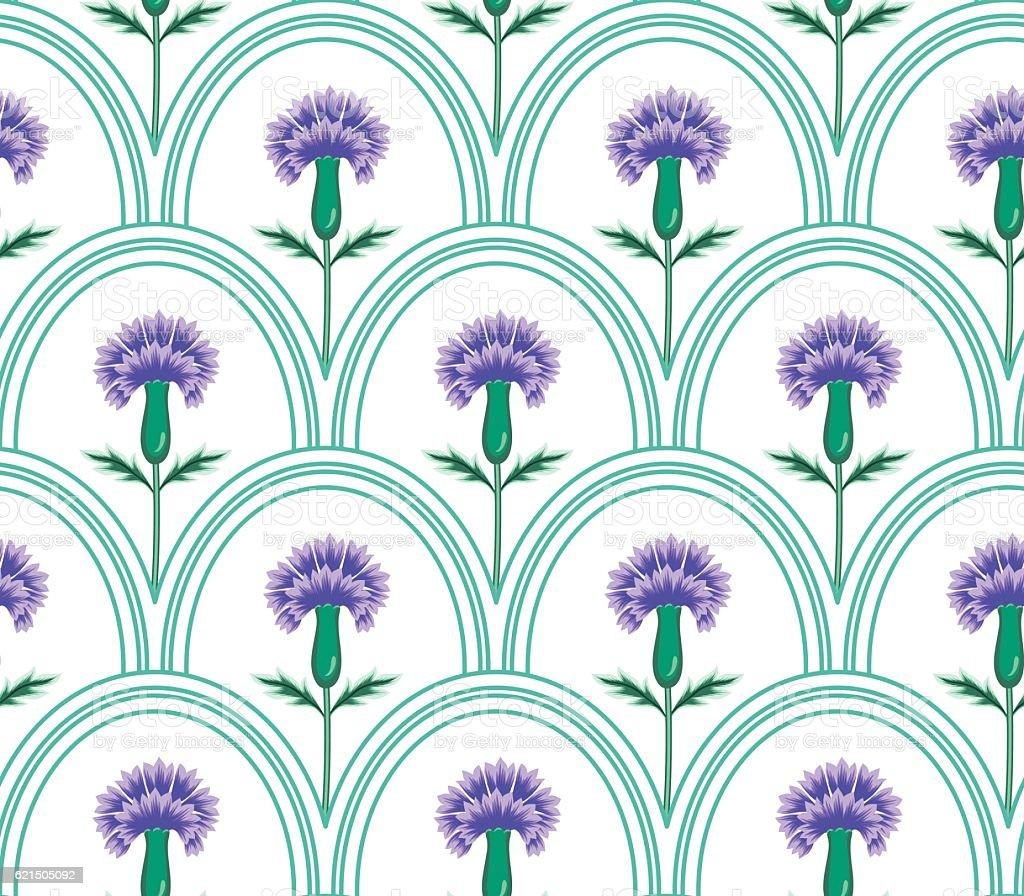 vector seamless graphical oval tiles with fantasy flowers pattern vector seamless graphical oval tiles with fantasy flowers pattern - immagini vettoriali stock e altre immagini di affari finanza e industria royalty-free