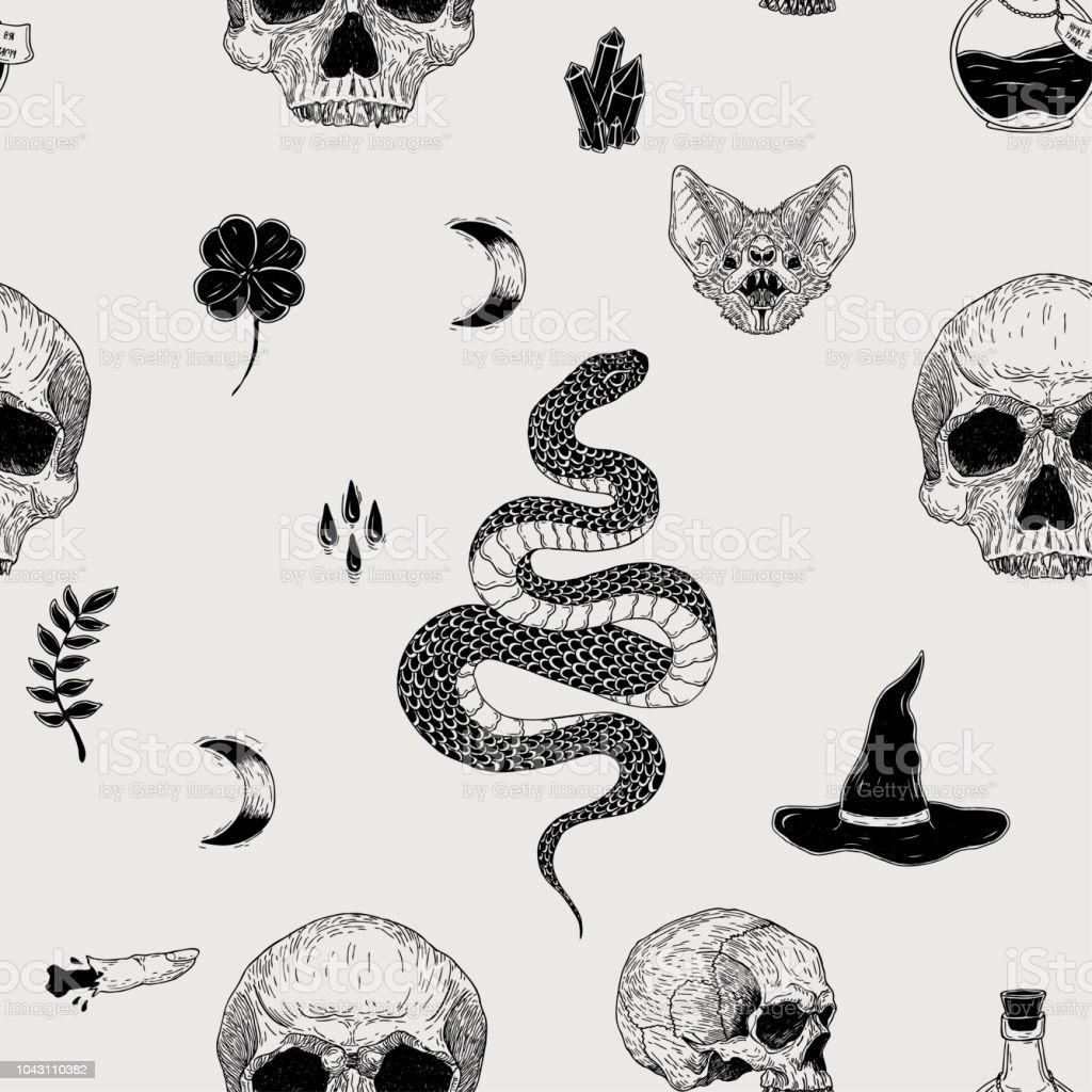 Ilustración de Vector Transparente Mano Terror Vintage Dibujado El ...