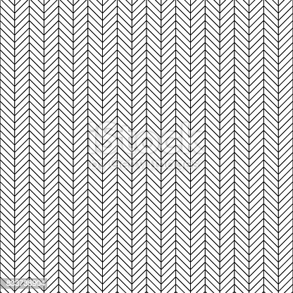 istock Vector seamless herringbone pattern. Geometric line texture. Black-and-white background. Monochrome design. 833738904