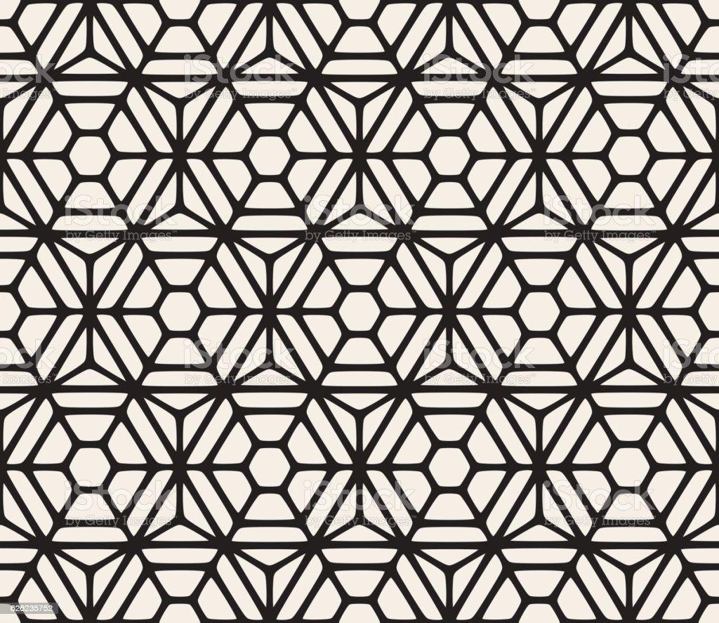 Vector Seamless Hexagon Rounded Grid Pattern vector art illustration