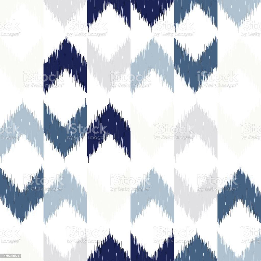 Vector seamless ikat pattern vector art illustration