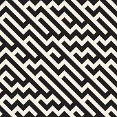 Vector Seamless Jumble ZigZag Lines Diagonal Geometric Pattern